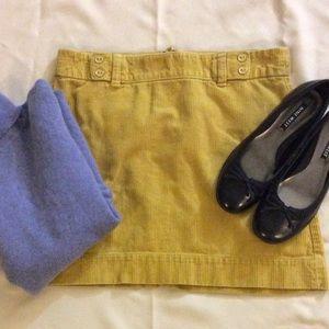 LOFT:  Corduroy Skirt: